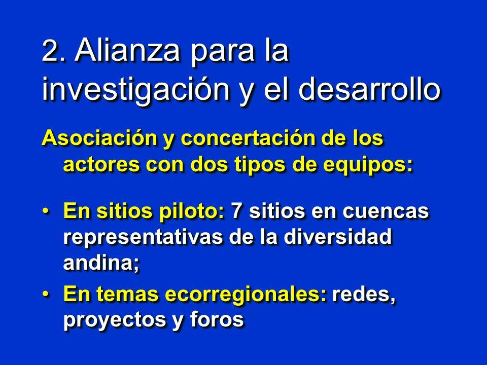 2. Alianza para la investigación y el desarrollo