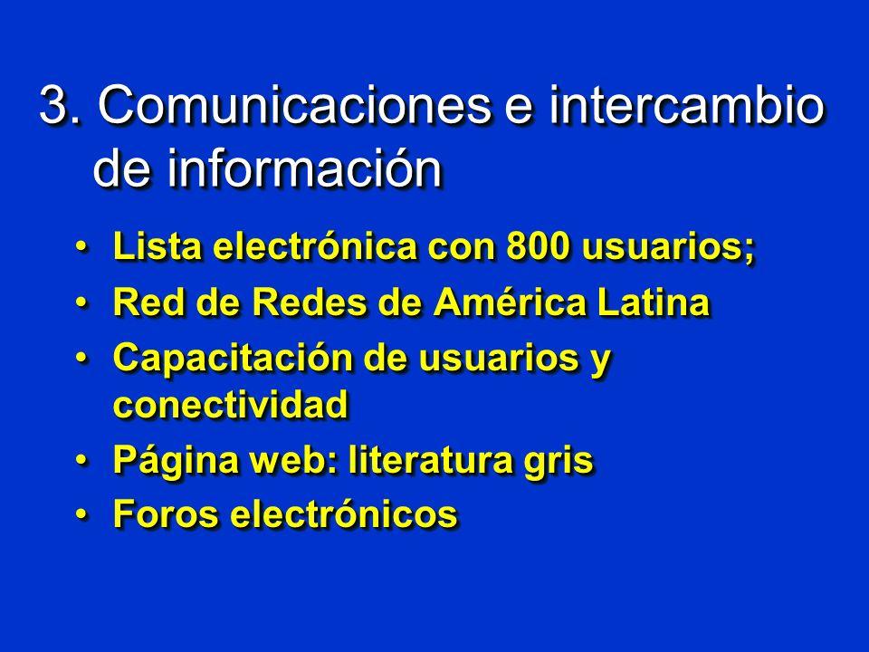 3. Comunicaciones e intercambio de información