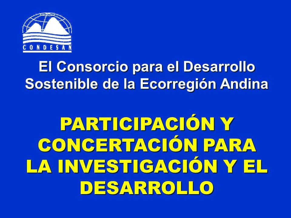 PARTICIPACIÓN Y CONCERTACIÓN PARA LA INVESTIGACIÓN Y EL DESARROLLO
