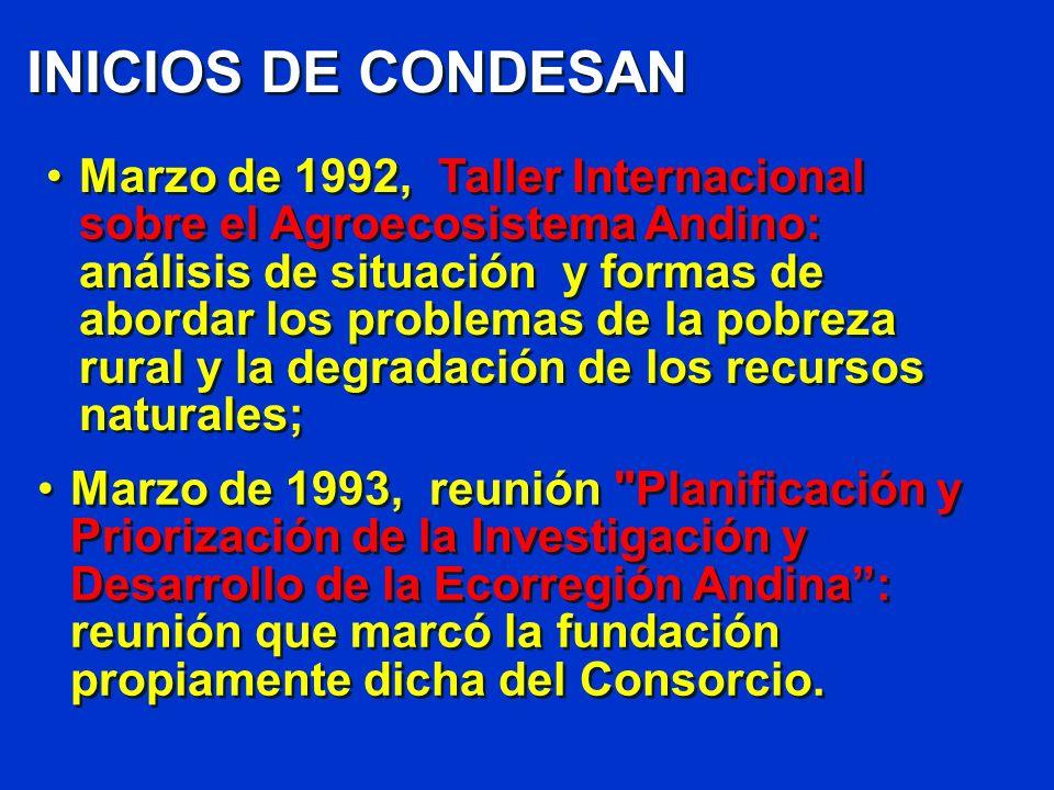 INICIOS DE CONDESAN