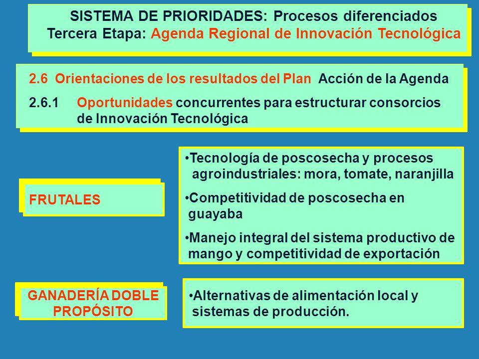 SISTEMA DE PRIORIDADES: Procesos diferenciados