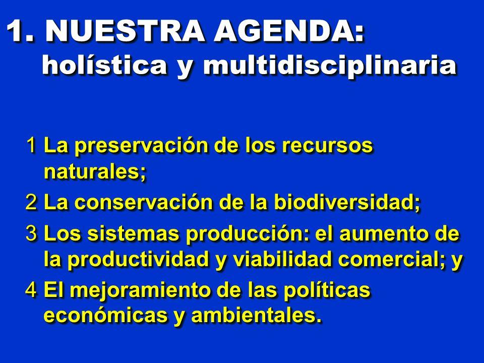 1. NUESTRA AGENDA: holística y multidisciplinaria