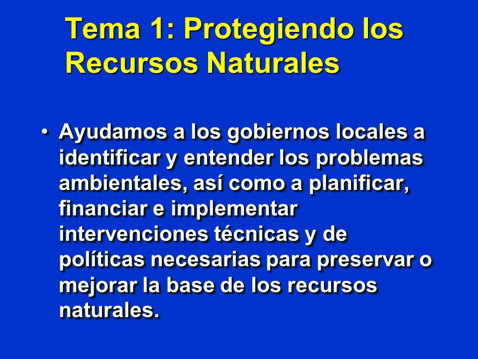 Tema 1: Protegiendo los Recursos Naturales
