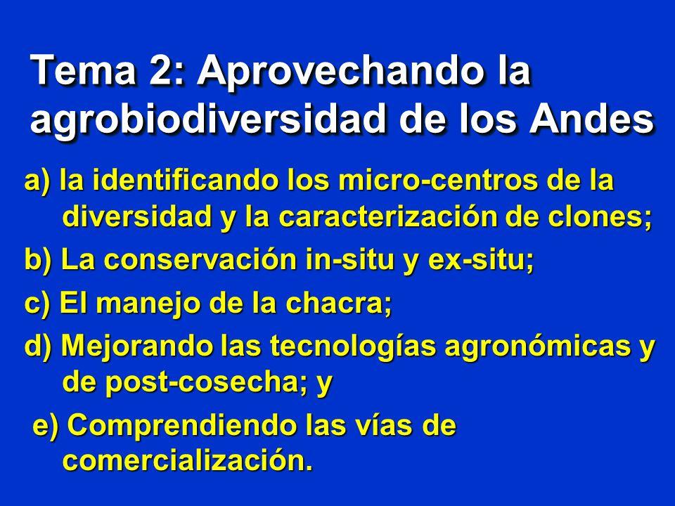 Tema 2: Aprovechando la agrobiodiversidad de los Andes