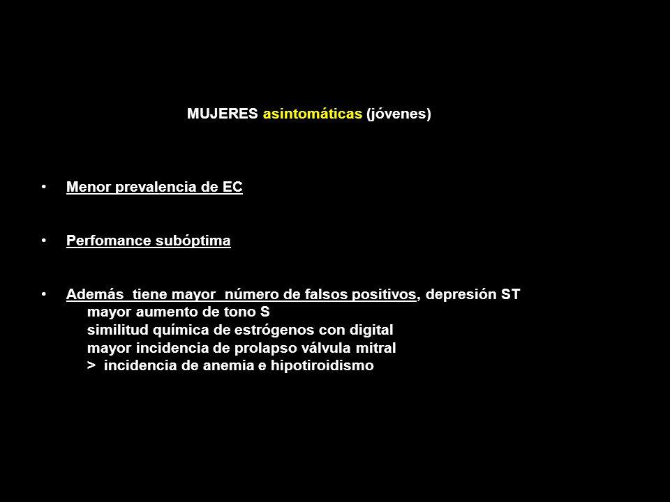 MUJERES asintomáticas (jóvenes)