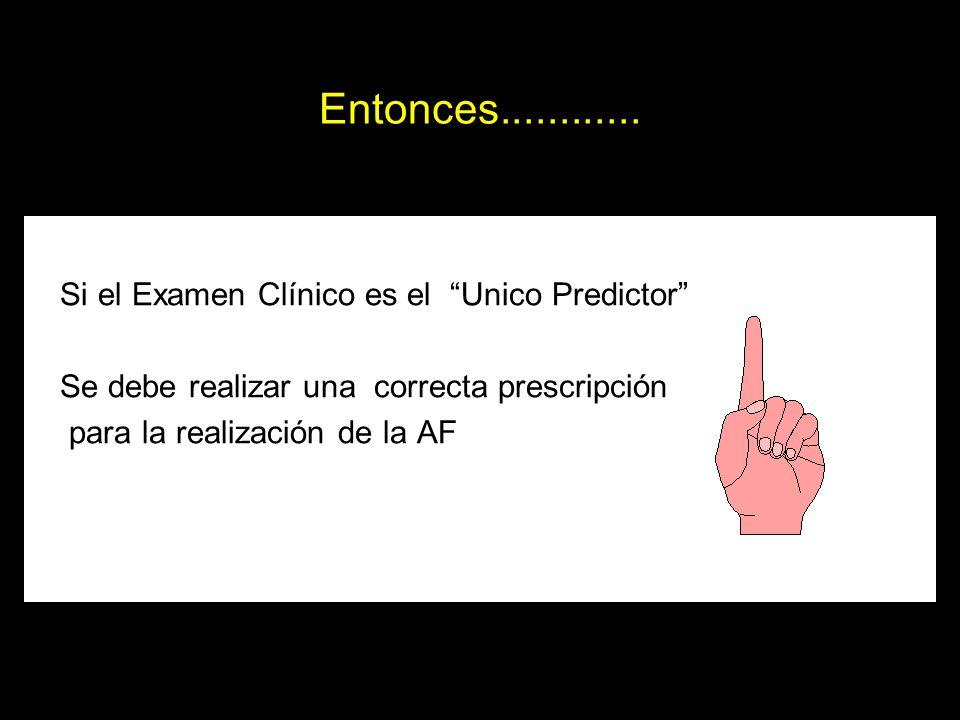 Entonces............ Si el Examen Clínico es el Unico Predictor