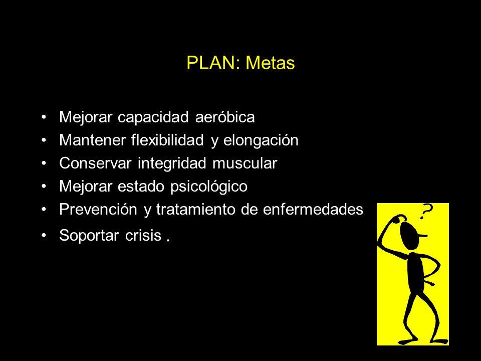 PLAN: Metas Mejorar capacidad aeróbica