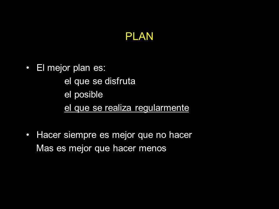 PLAN El mejor plan es: el que se disfruta el posible