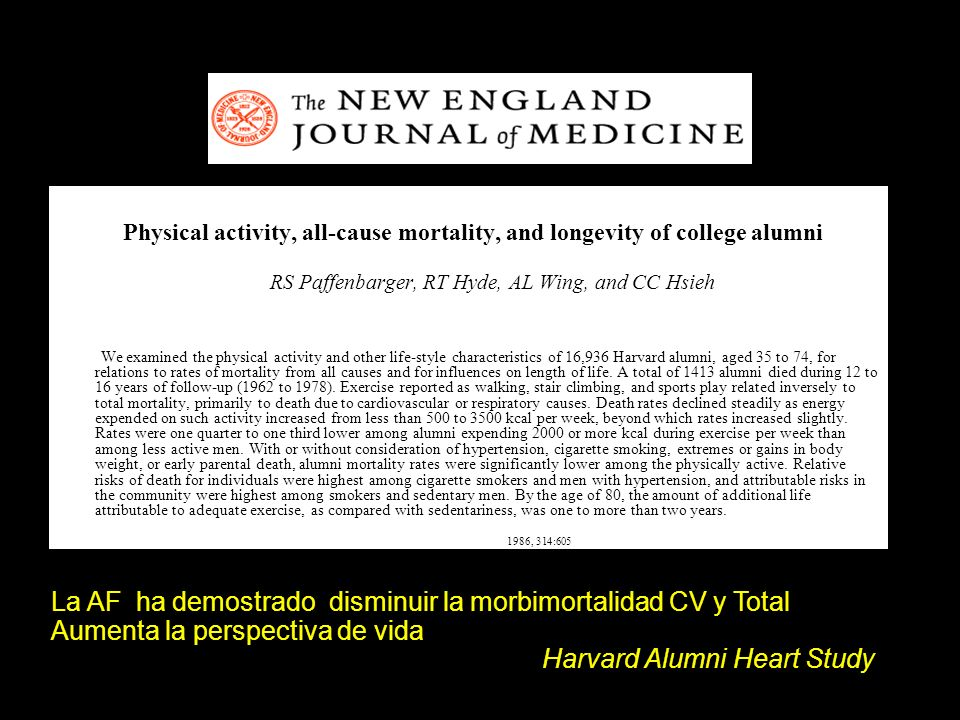 Physical activity, all-cause mortality, and longevity of college alumni.