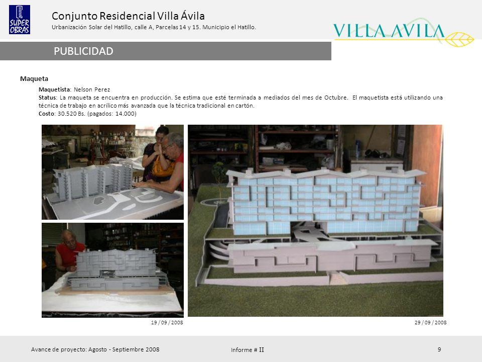 PUBLICIDAD Maqueta Maquetista: Nelson Perez