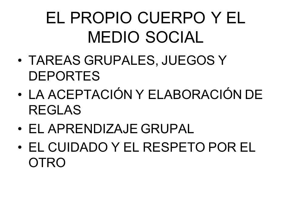 EL PROPIO CUERPO Y EL MEDIO SOCIAL