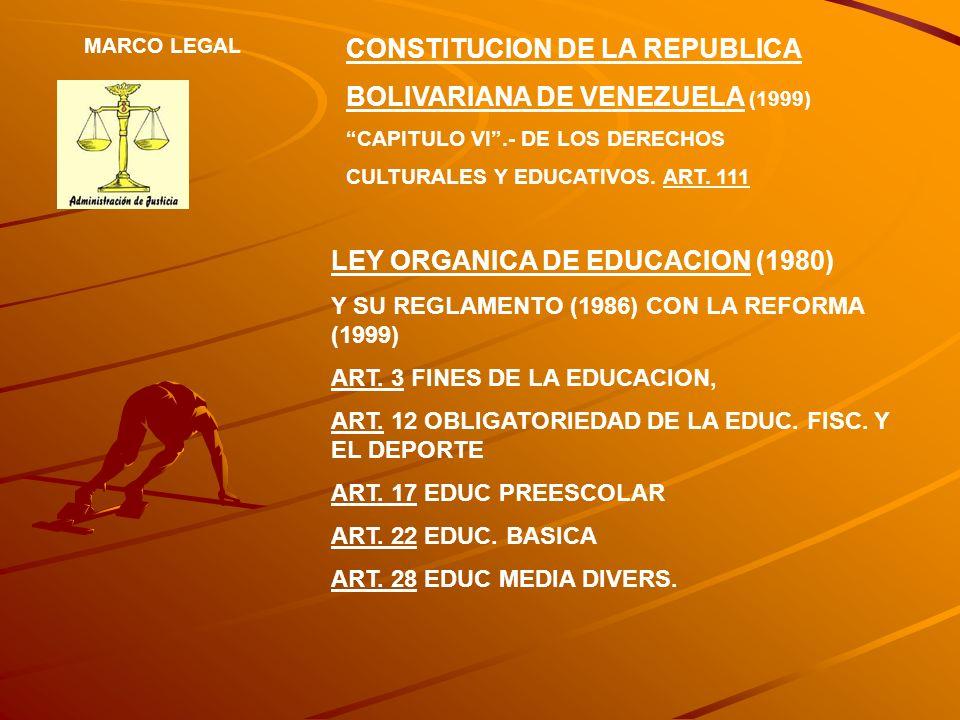 CONSTITUCION DE LA REPUBLICA BOLIVARIANA DE VENEZUELA (1999)