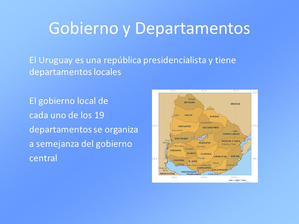 Gobierno y Departamentos