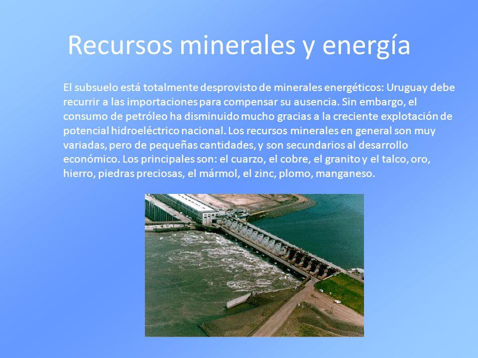 Recursos minerales y energía