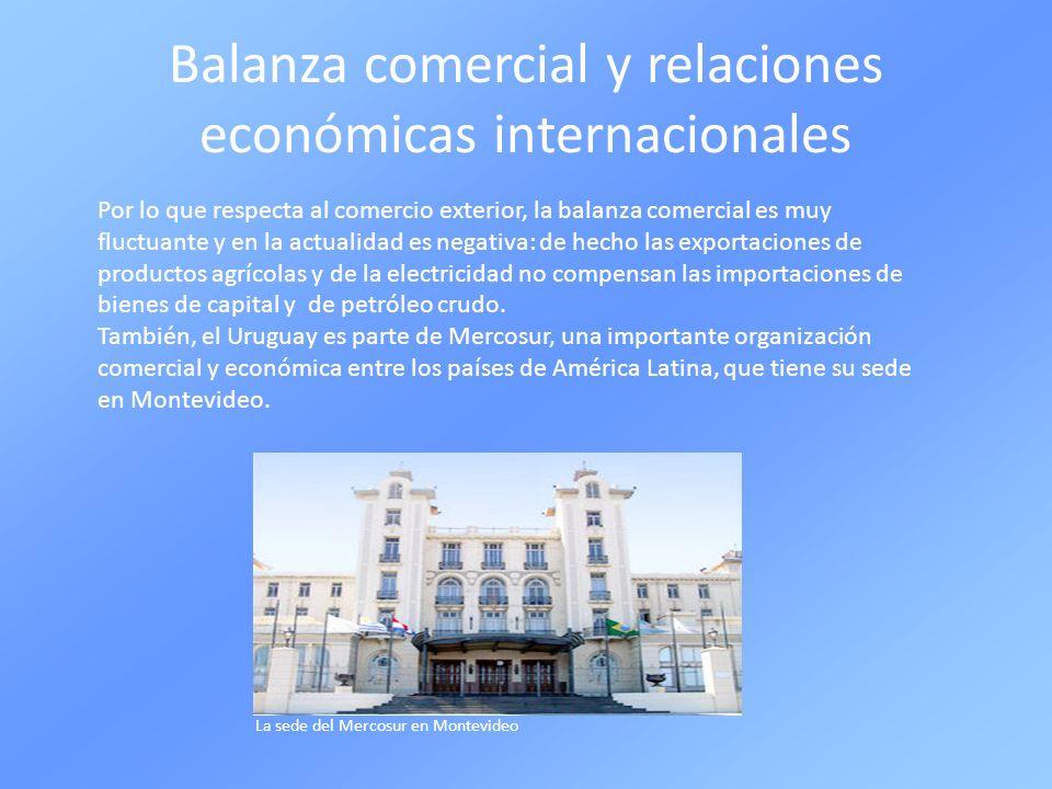 Balanza comercial y relaciones económicas internacionales
