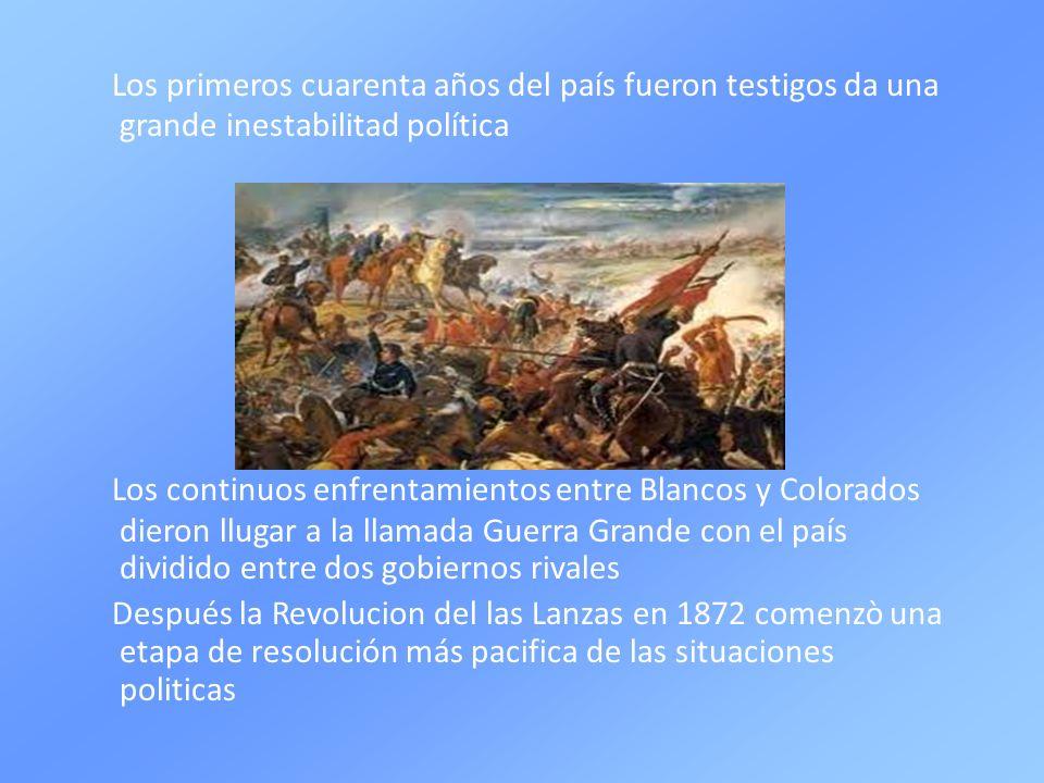 Los primeros cuarenta años del país fueron testigos da una grande inestabilitad política