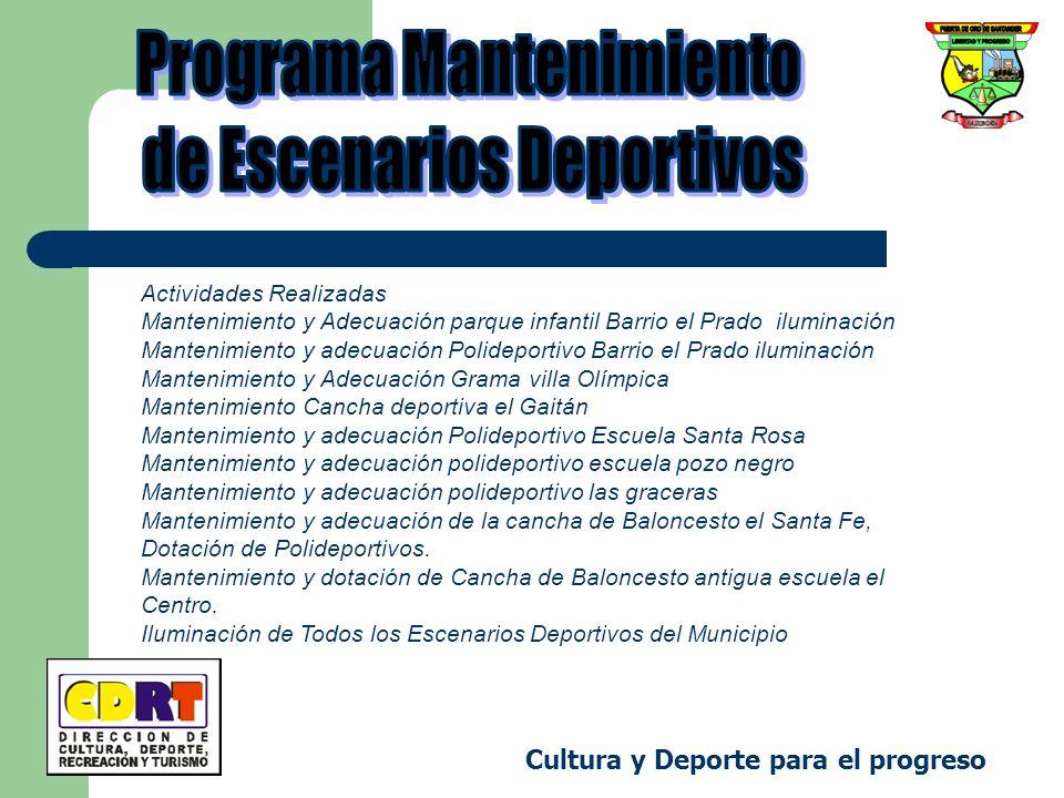 Programa Mantenimiento de Escenarios Deportivos