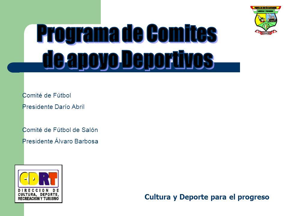 Programa de Comites de apoyo Deportivos