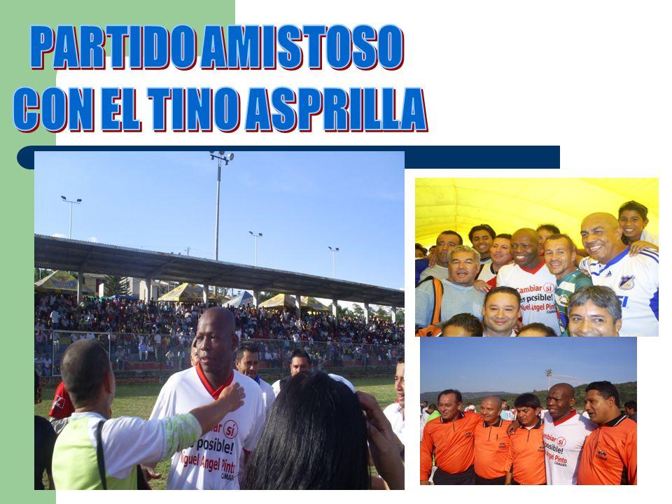 PARTIDO AMISTOSO CON EL TINO ASPRILLA