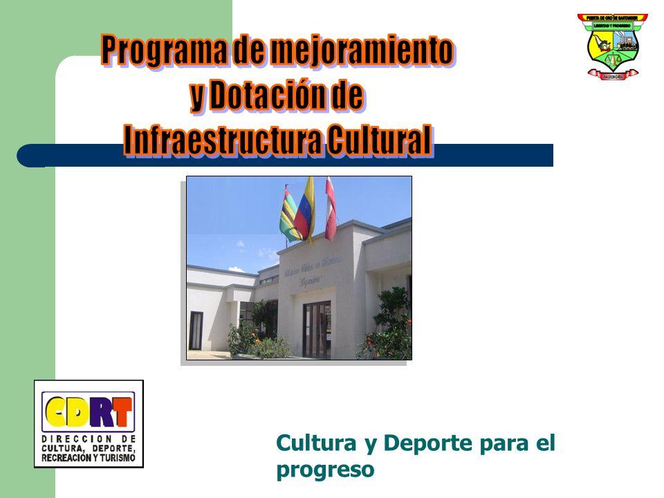 Programa de mejoramiento Infraestructura Cultural