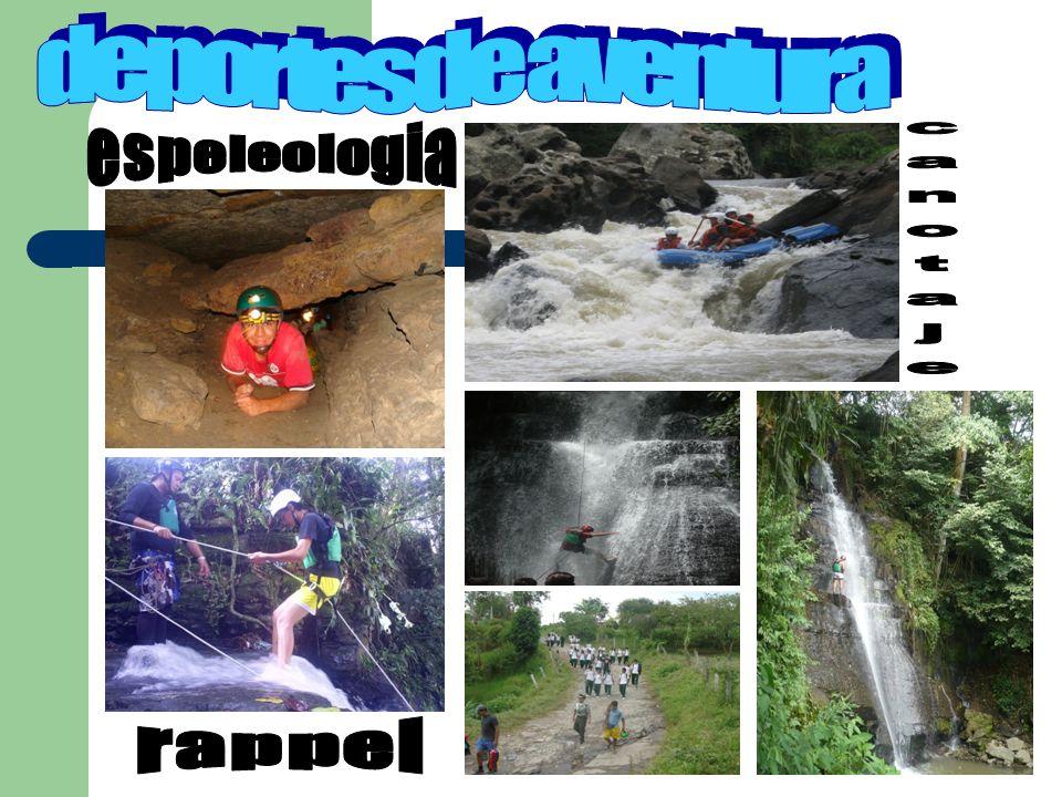deportes de aventura espeleologia canotaje rappel