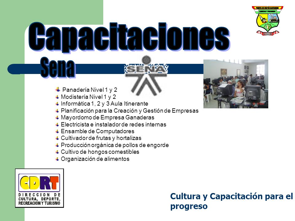 Capacitaciones Sena Cultura y Capacitación para el progreso