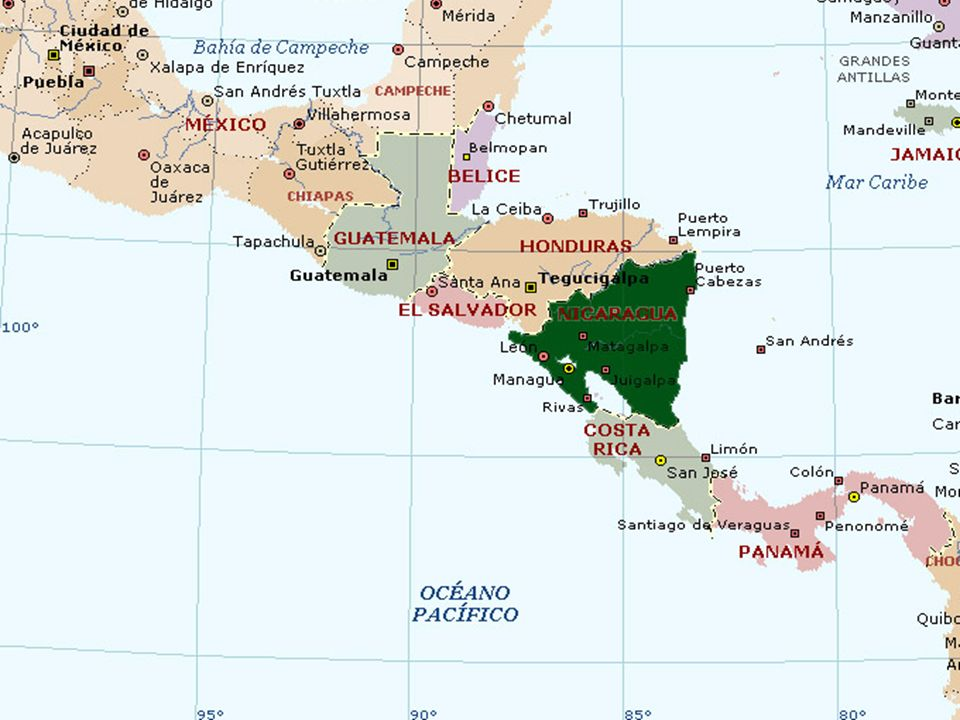 Nombre Nicaragua. Capital. Managua. Área: 129.494 km². Población. 5.232.216. División Territorial.