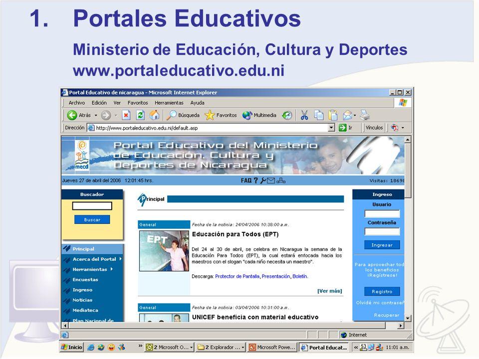 Portales Educativos Ministerio de Educación, Cultura y Deportes www