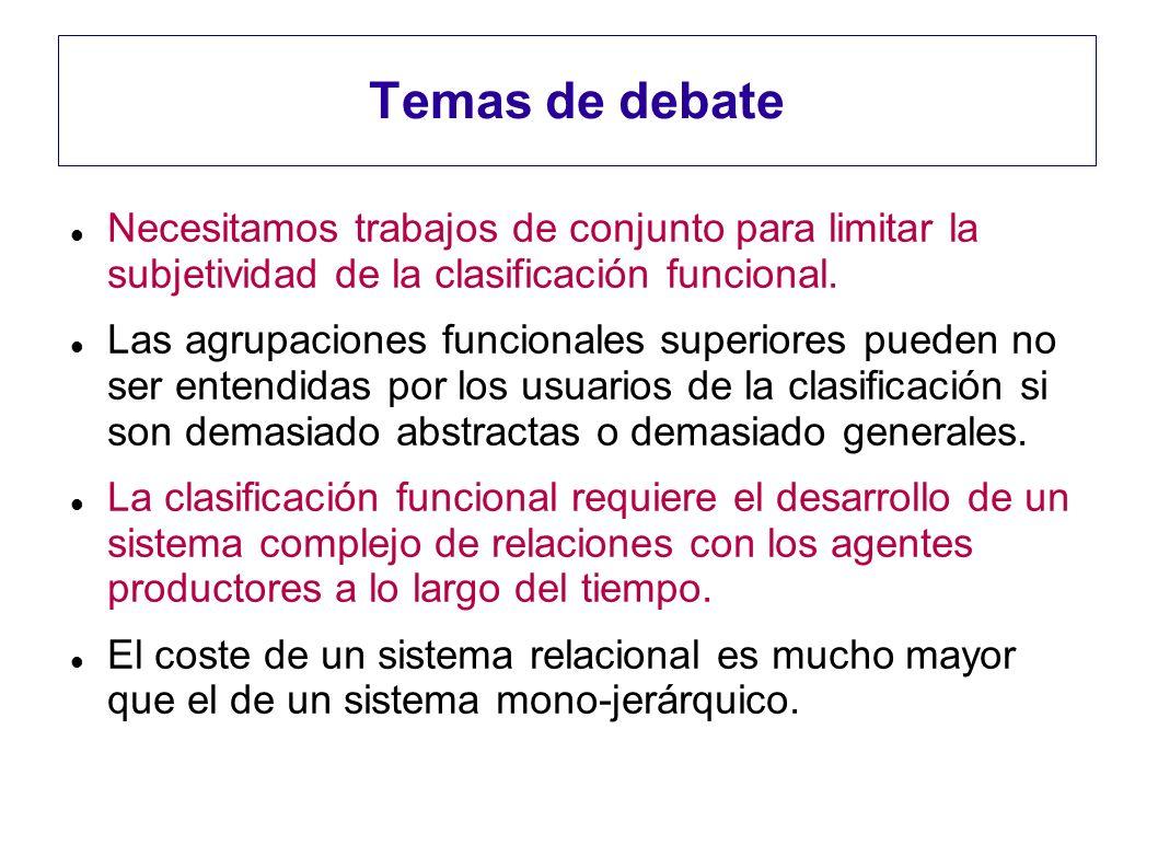 Temas de debate Necesitamos trabajos de conjunto para limitar la subjetividad de la clasificación funcional.
