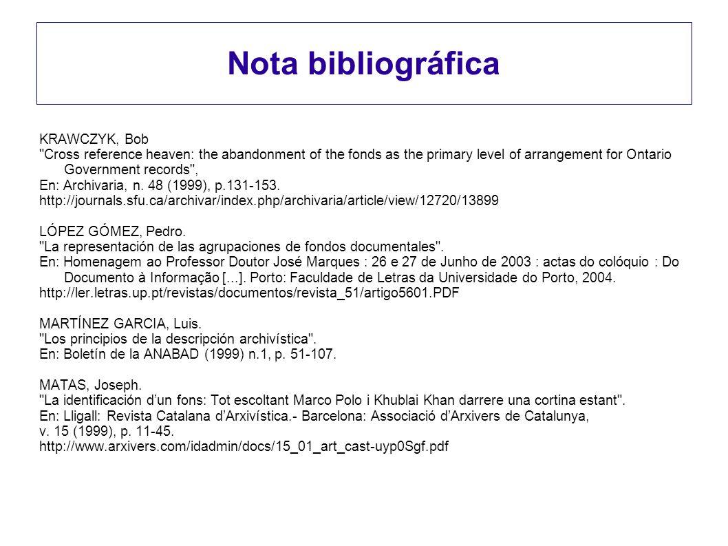 Nota bibliográfica KRAWCZYK, Bob