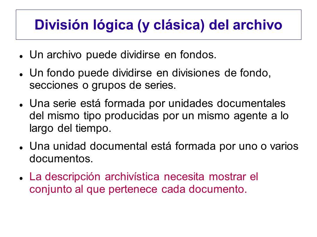 División lógica (y clásica) del archivo