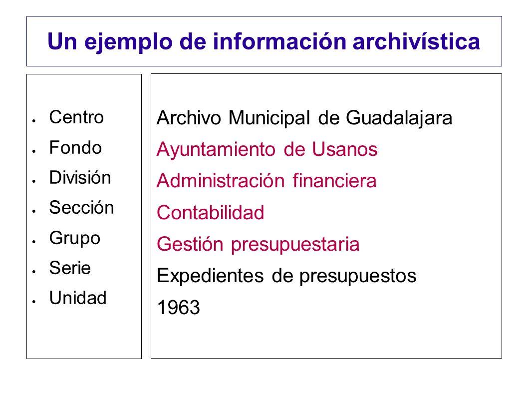 Un ejemplo de información archivística