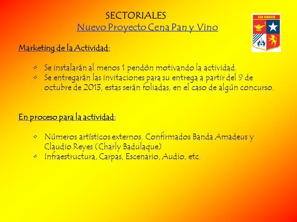 Nuevo Proyecto Cena Pan y Vino