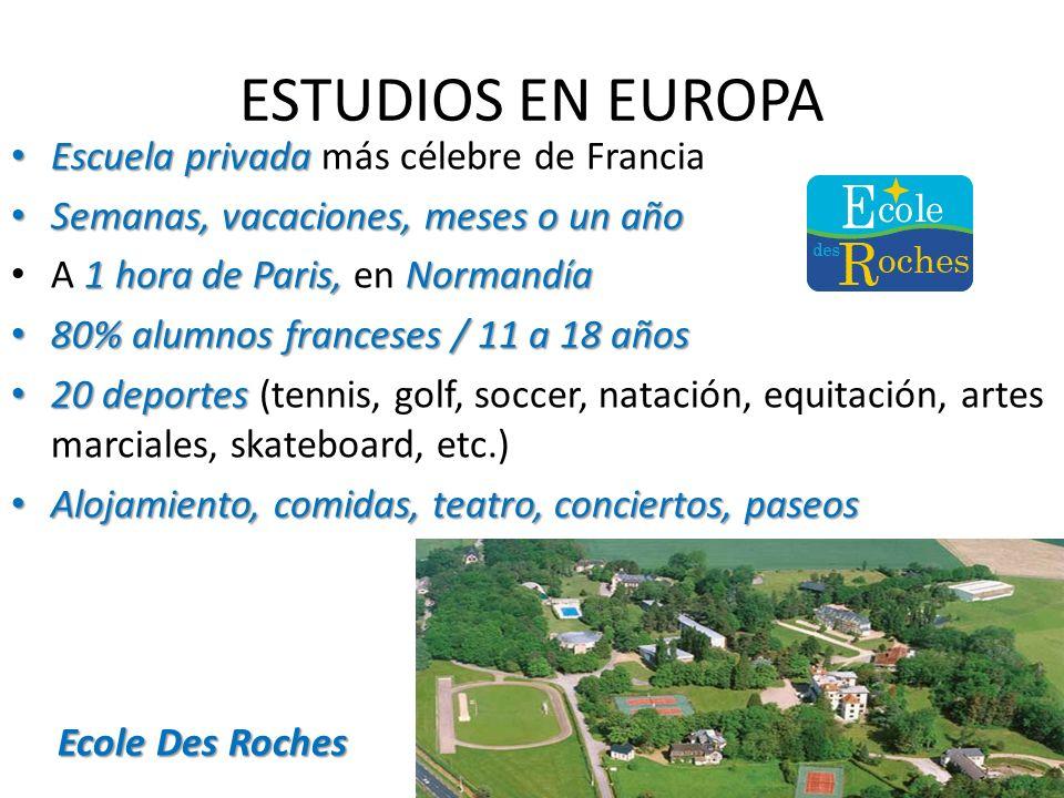 ESTUDIOS EN EUROPA Escuela privada más célebre de Francia