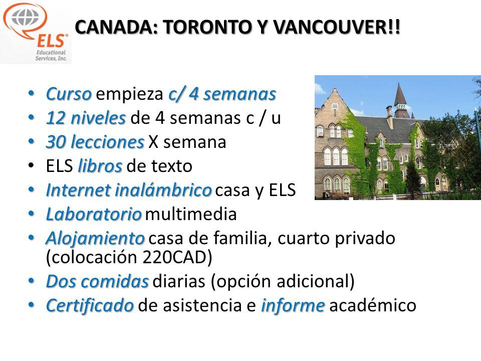 CANADA: TORONTO Y VANCOUVER!!