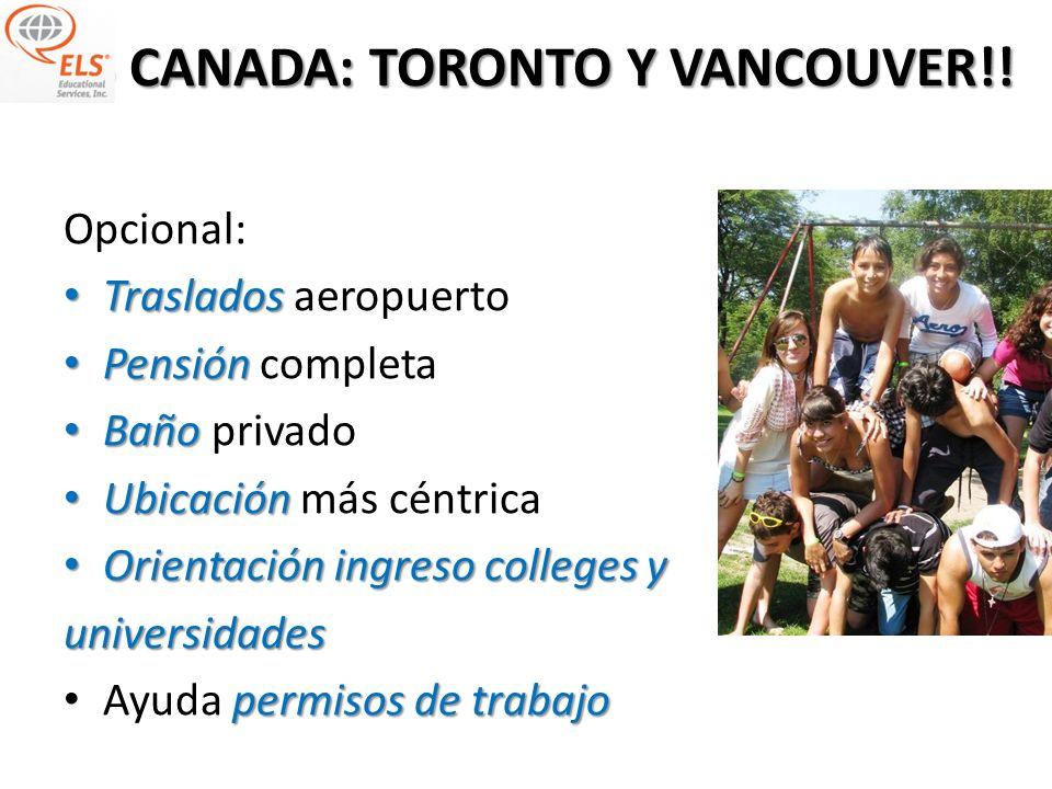 ELS CANADA: TORONTO Y VANCOUVER!!