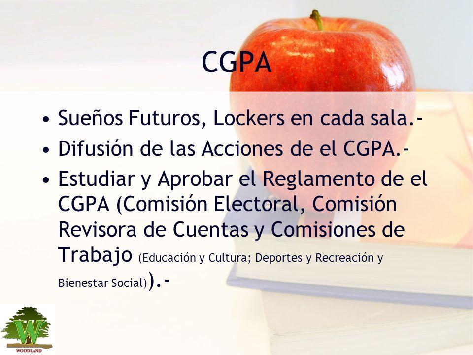 CGPA Sueños Futuros, Lockers en cada sala.-