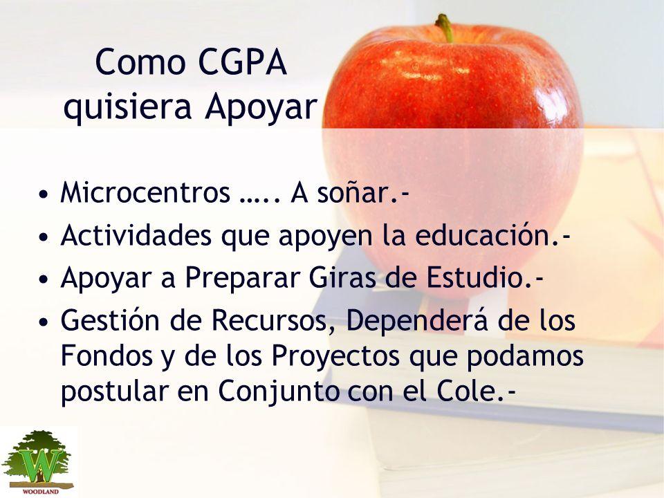 Como CGPA quisiera Apoyar