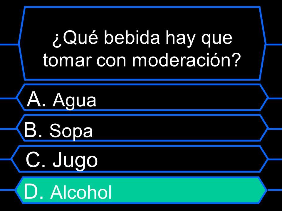 ¿Qué bebida hay que tomar con moderación
