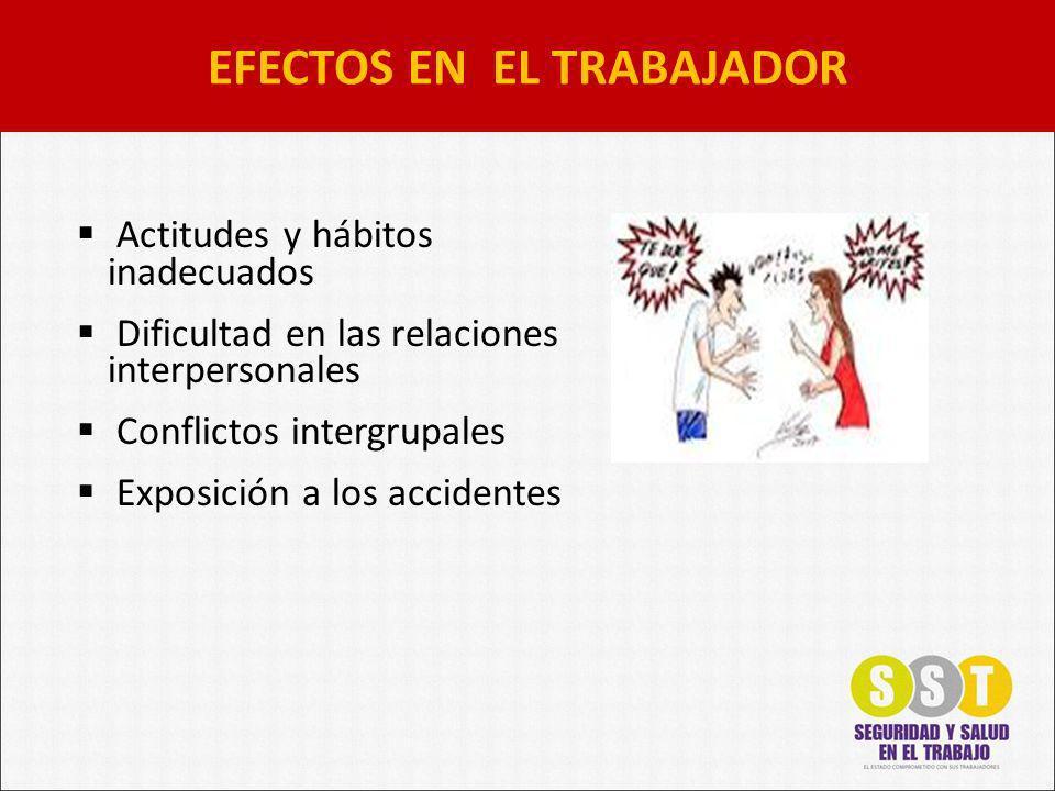 EFECTOS EN EL TRABAJADOR
