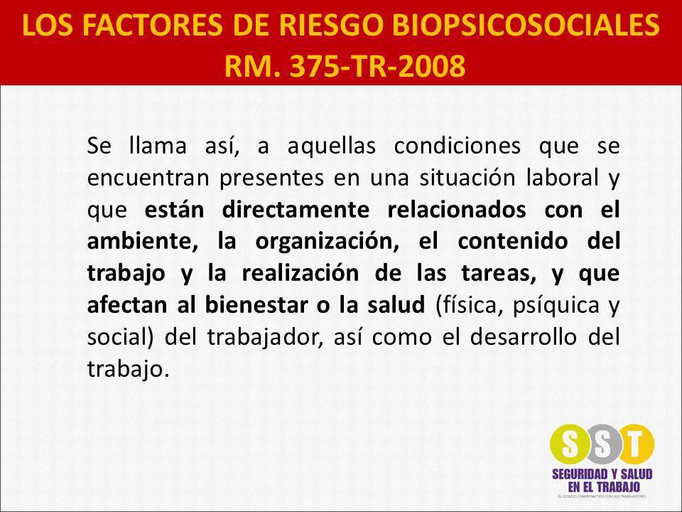 LOS FACTORES DE RIESGO BIOPSICOSOCIALES