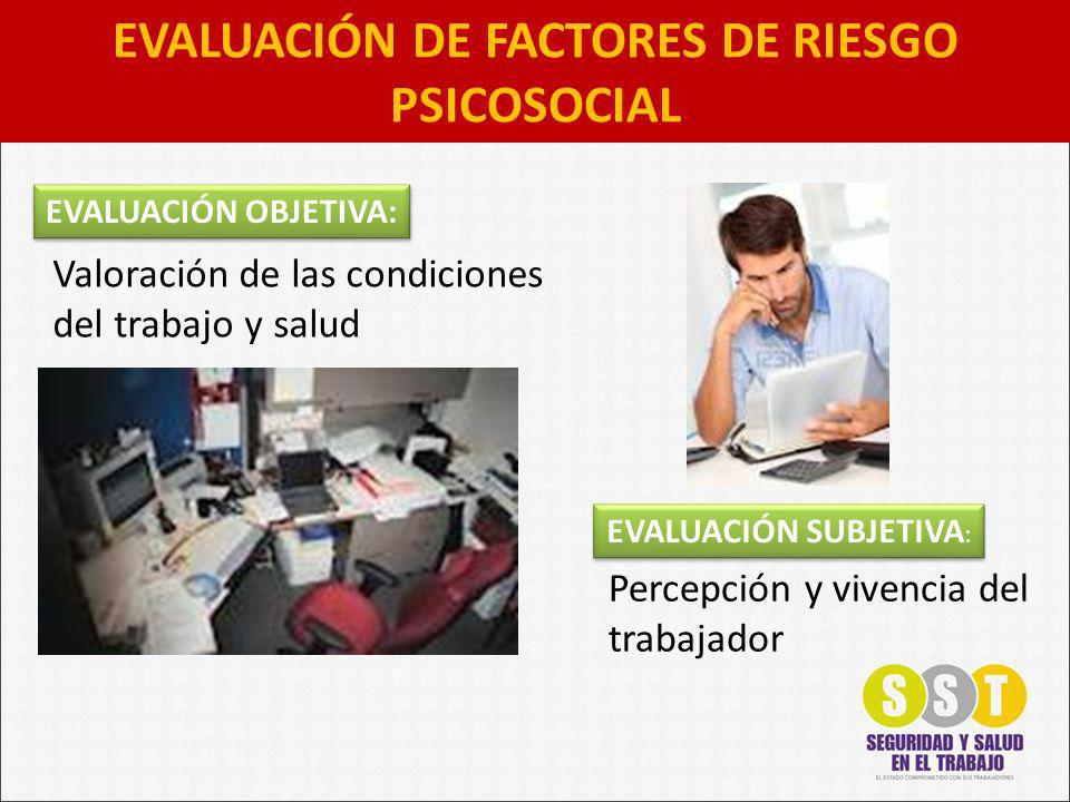 EVALUACIÓN DE FACTORES DE RIESGO PSICOSOCIAL