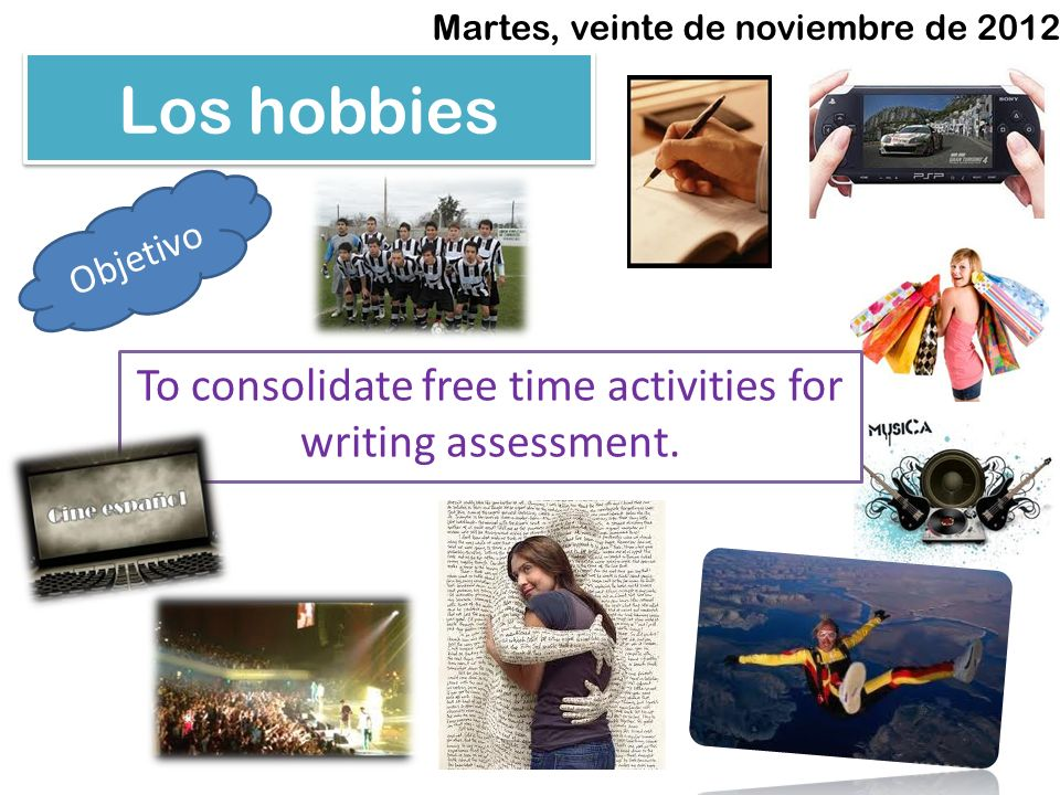 To consolidate free time activities for writing assessment.