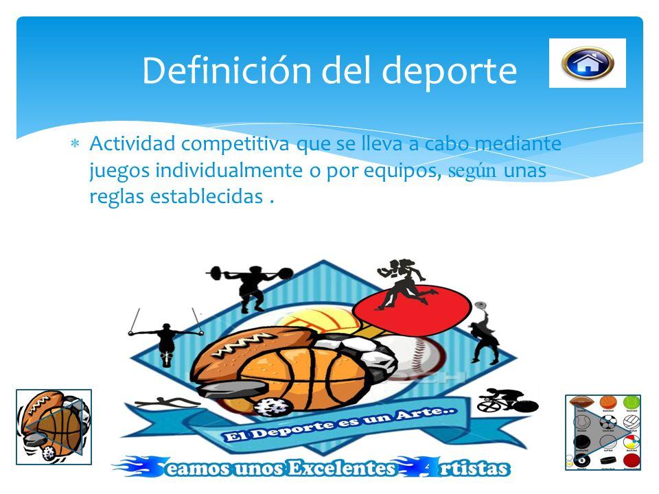 Definición del deporte