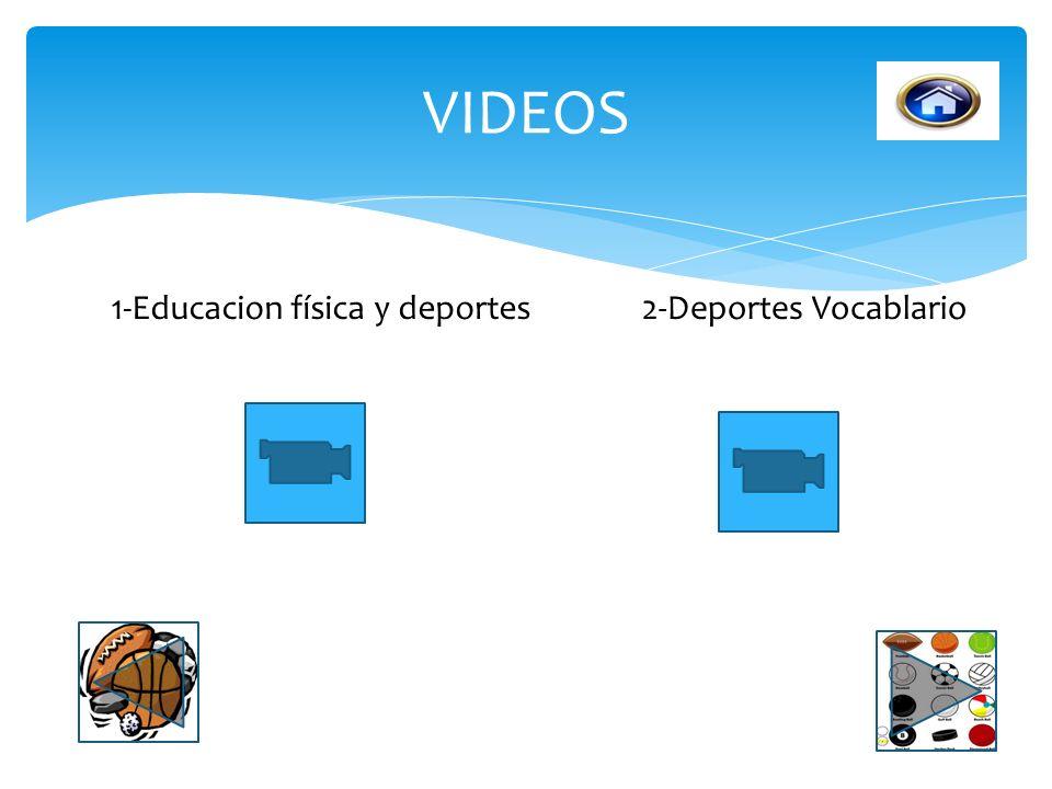 VIDEOS 1-Educacion física y deportes 2-Deportes Vocablario