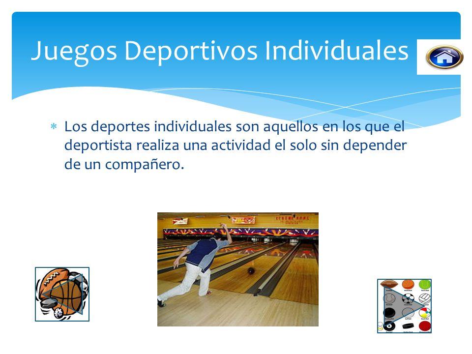 Juegos Deportivos Individuales