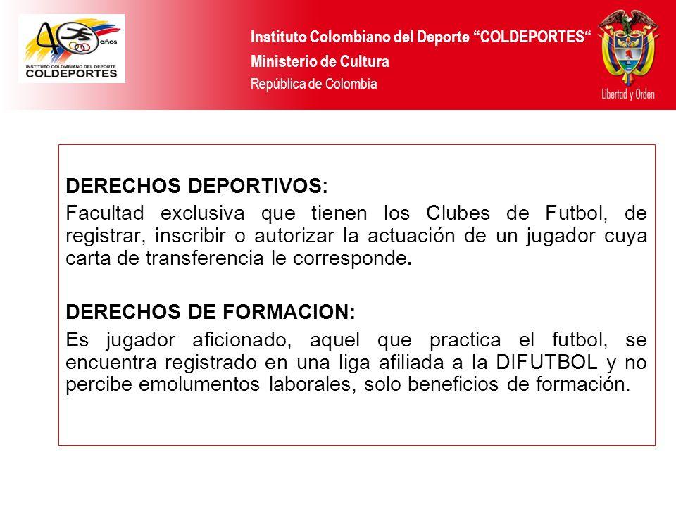 DERECHOS DE FORMACION: