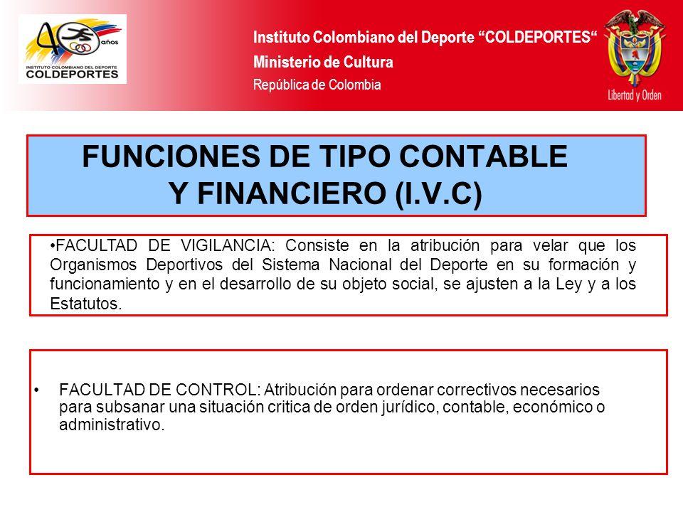FUNCIONES DE TIPO CONTABLE Y FINANCIERO (I.V.C)