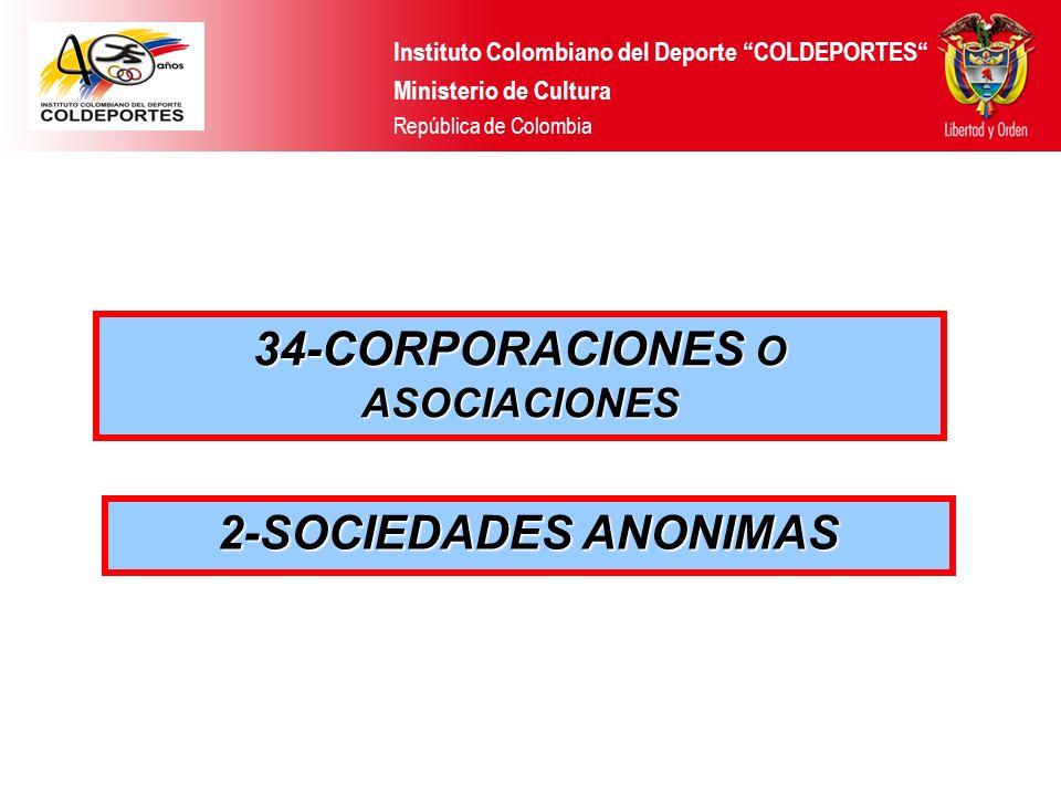 34-CORPORACIONES O ASOCIACIONES