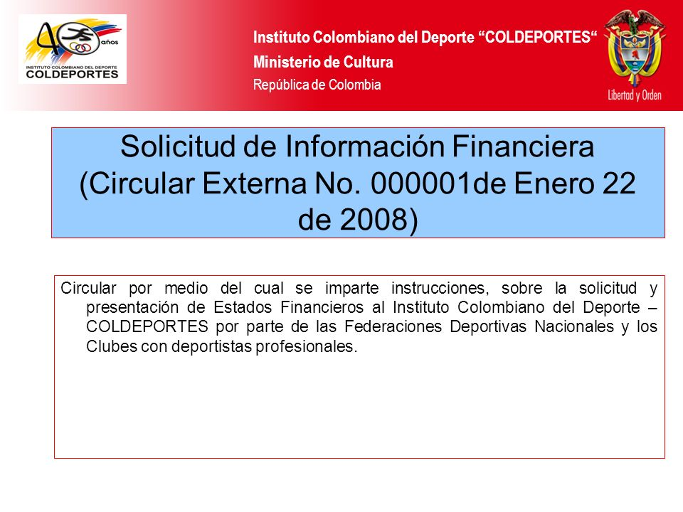 Instituto Colombiano del Deporte COLDEPORTES